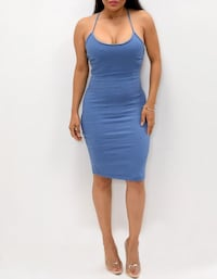 Size M blue strapped dress Fullerton, 92835