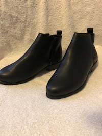 pair of black leather Chelsea boots Winston-Salem, 27127