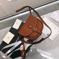 black and brown leather crossbody bag Toronto