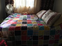 3pc hand made queen/king bed sheet colourful Toronto, M3A 3M3
