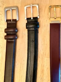 3 Brand name Mens Genuine Leather Belts XLg Derry, 03038