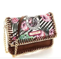 red, black, and white floral crossbody bag New York, 11368