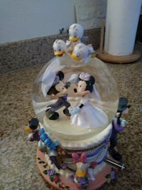 Mickey and Minnie Mouses water globe