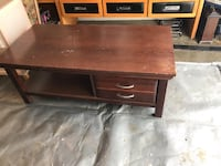 Solid wood coffee table with drawer   Edmonton, T5M 0S6