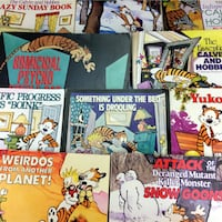 Lot 10 Calvin And Hobbes Books Comic Strip Collection Series Bill Watterson Set Port Colborne