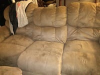brown suede recliner sofa chair Marysville