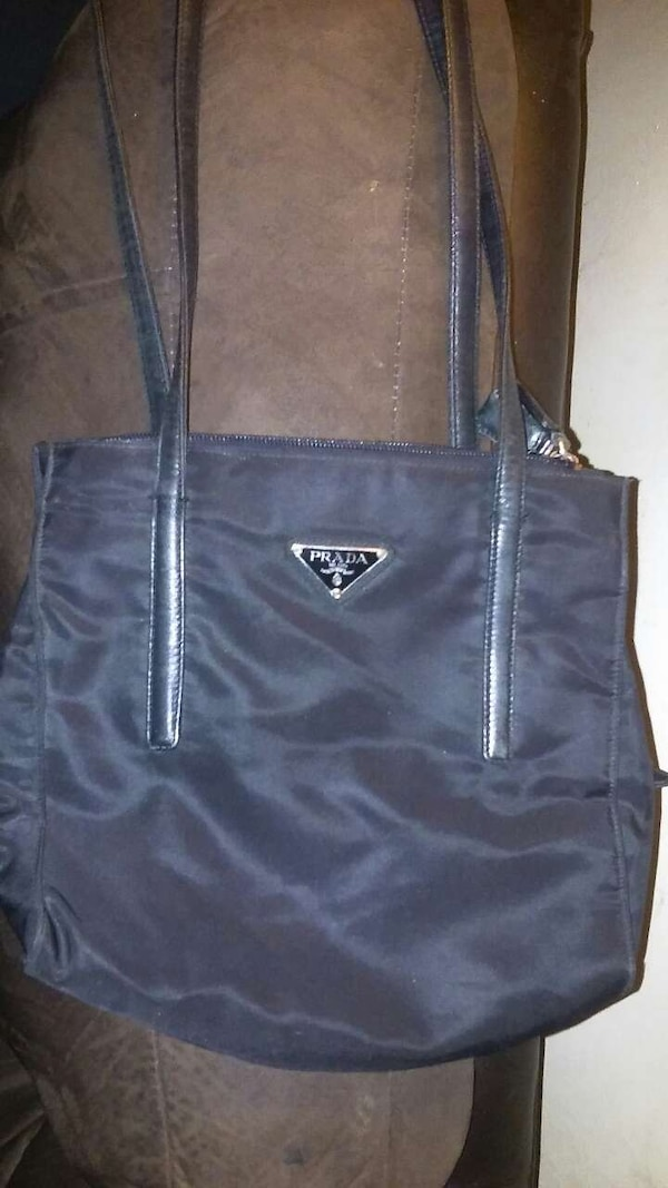 fe50c483142705 Used Prada B6912 Black nylon shoulder tote. for sale in Philadelphia ...