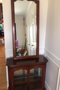 Curio Cabinet with mirror glass shelves