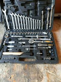 gray steel combination wrench set