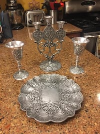 Carson Statesmetal table set for wedding or newlyweds Reston, 20191