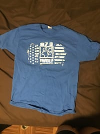 Blue and white crew-neck t-shirt Fort Thomas, 41075