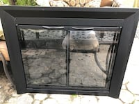 Black, glass front, fireplace screen  Springfield, 22151