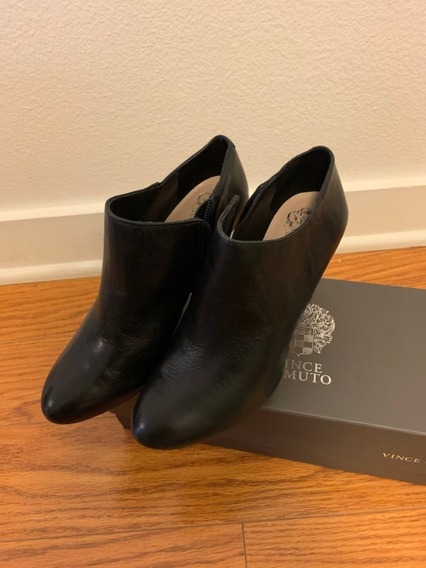 Vince Camuto Black Booties In Size 5.5 like new fdd07020-bb8c-4340-94fd-947814d782e0