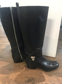 black Michael Kors leather knee-high boots 3726 km