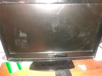 black Samsung flat screen TV 42 km