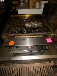 """36"""" charbroiler with stand"""