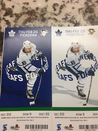 Less than face value!!! Toronto Maple Leafs vs. Pittsburgh Penguins Toronto, M1G 3B6