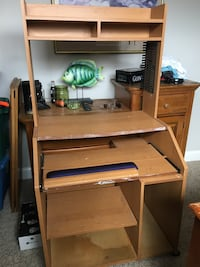 Free Desk with Top Shelf