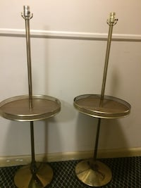 two gold-colored floor lamp bases Kensington, 20895
