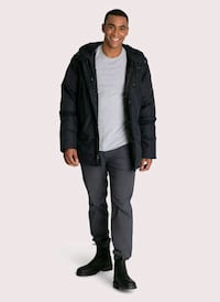men's black zip-up jacket Montreal, H1K