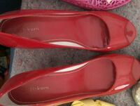pair of red leather flats Stockton, 95206