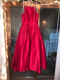 Red satin high neck prom dress Inver Grove Heights, 55076