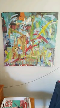 Abstract painting local artist Kitchener, N2E 3E6