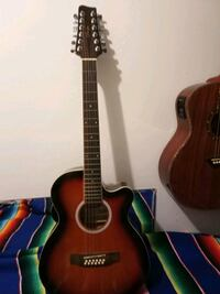 brown and black dreadnought acoustic guitar Gaithersburg, 20877