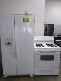 On sale refrigerator and gas stove