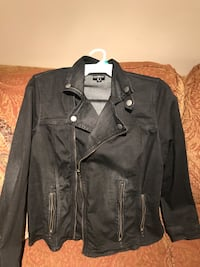 Black distressed jean jacket Mississauga, L5L