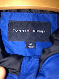 Tommy Hilfiger Padded Logo Anorak - Blue