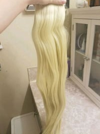 "Blond hair extensions 22"" clip-ins Port Coquitlam, V3B 2E5"