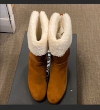 Coach turn lock shearling boots