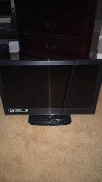 black flat screen TV with remote Bossier City, 71112