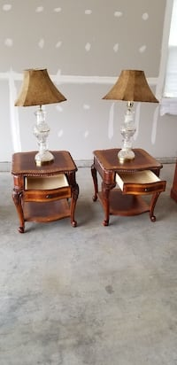 two brown wooden side tables Bowie, 20720