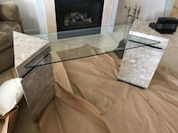 Living room 3 Table Set Glass Marble