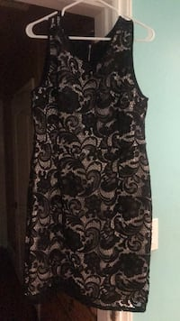 black and gray floral long-sleeved dress Downey, 90240