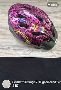 pink, black, and white bicycle helmet London, N5W 1E8