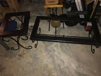 Black metal framed glass top coffee table Winnipeg, R2R 0C8