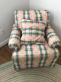 white, red, and green plaid sofa chair Hackettstown, 07840