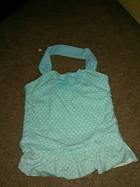 teal and white spaghetti strap dress Palm Springs, 92262