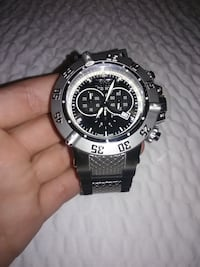round silver-colored chronograph watch with link bracelet Phoenix, 85029