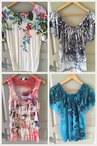 four assorted blouses