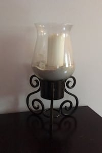 Large Candle holder with candle
