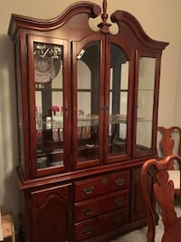 brown wooden framed glass china cabinet Leesburg, 20175