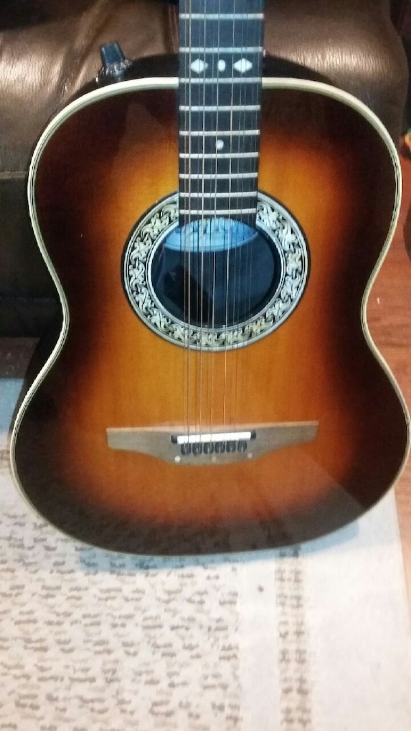 Used Classic Ovation 12 String Guitar And Case For Sale In Deptford