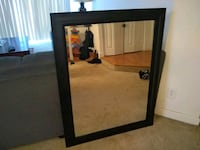 rectangular black wooden framed mirror Germantown, 20874