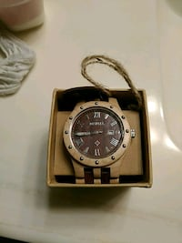 Wood watch new