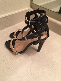 Izabella Rue black and Gold heels Manassas, 20109
