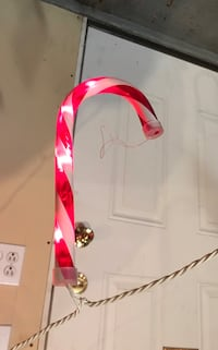 NEW 12 ft long  string of candy cane lights
